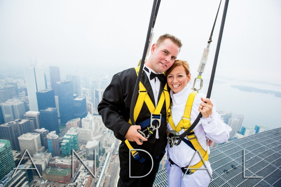 Edgewalk CN Tower Wedding Photos